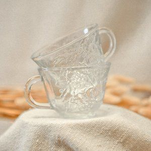 Vintage Glass Teacups
